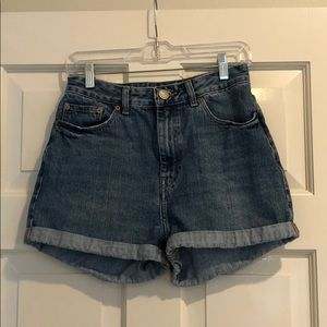 ASOS Cuffed Denim Shorts